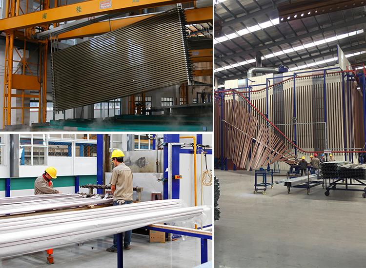 Perfiles de extrusión de aluminio acabado superficial